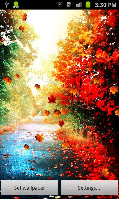 Free Touch Autumn Leaves Live Wallpaper APK Download For Android | GetJar