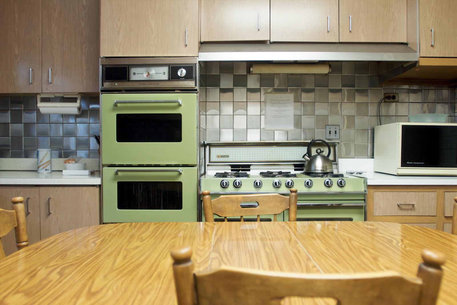 smart options kitchen flooring cheap kitchen flooring Avocado green kitchen