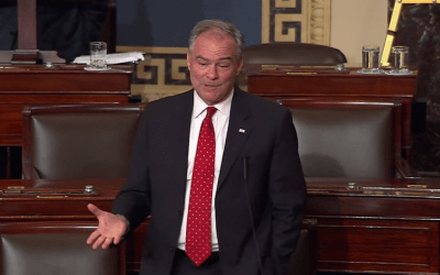 Kaine, accepting VP slot, cites Holocaust survivor who died in shooting | The Times of Israel