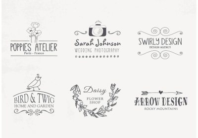 Hand Drawn Logo Designs Vector - Download Free Vector Art, Stock Graphics & Images