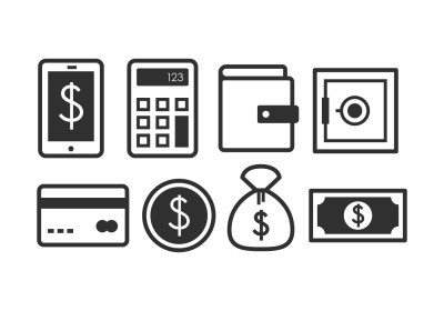 Banking Icon Set - Download Free Vector Art, Stock ...