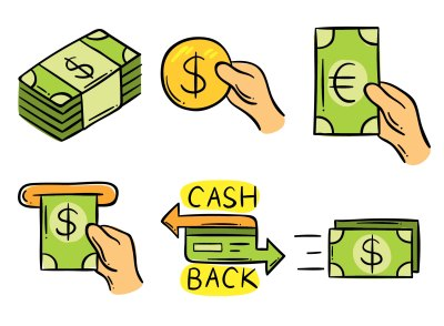 Hand Drawn Cash Back Element Vector - Download Free Vector ...