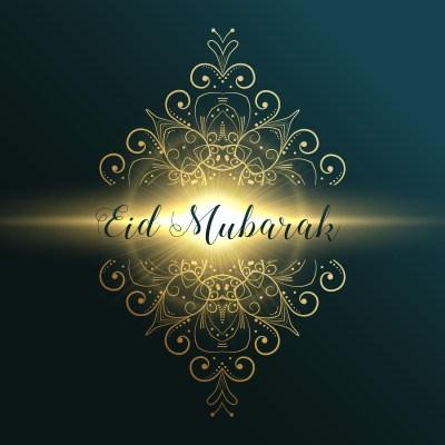 eid mubarak muslim festival greeting card design with floral dec - Download Free Vector Art ...