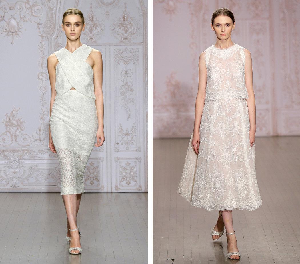 two piece wedding dresses make their statement two piece wedding dress Slide Show 6 Photos
