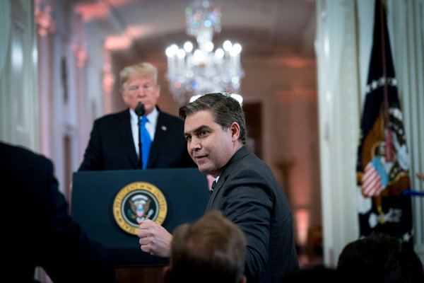 Trump Bars CNN's Jim Acosta From the White House - The New York Times