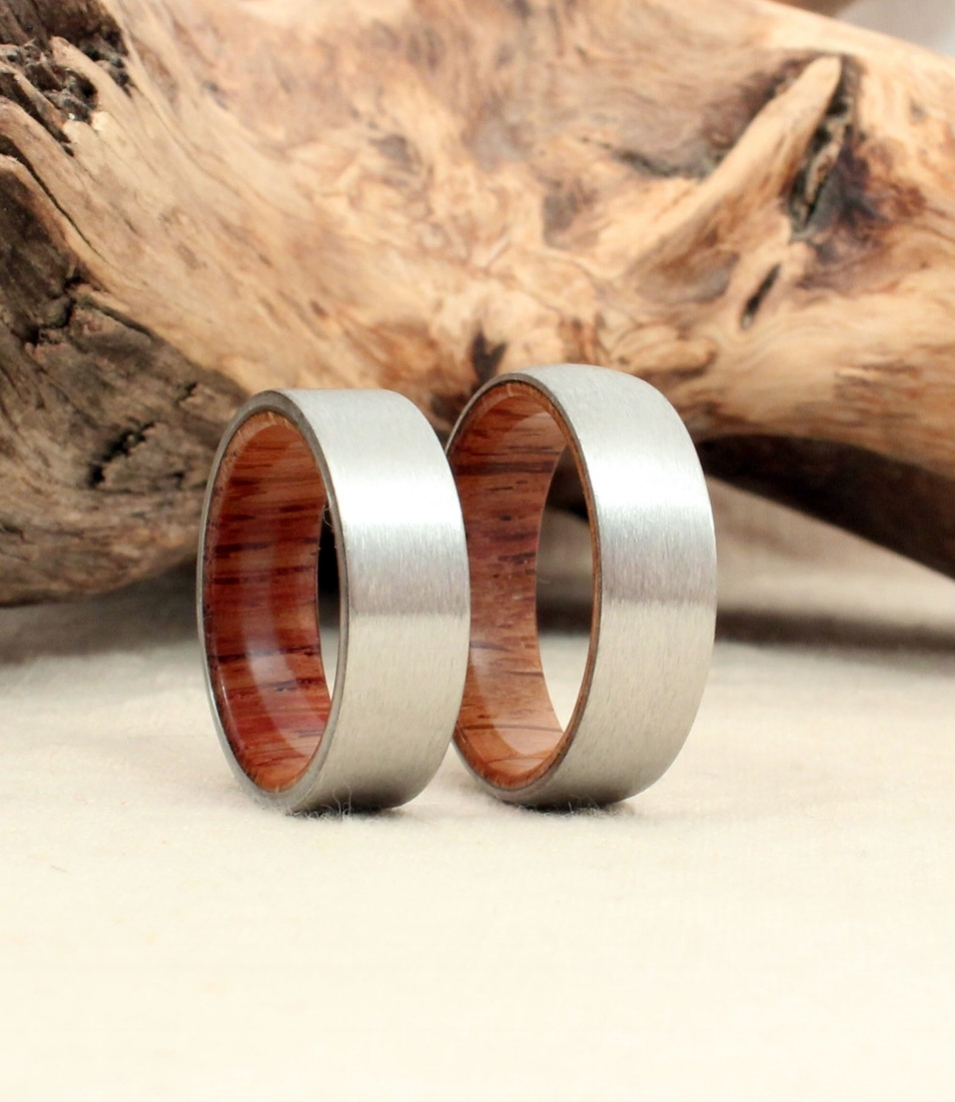 the original whiskey barrel wedding ring non conductive wedding ring A pair of Angel s Envy Bourbon sherry cask finished barrel oak wedding bands