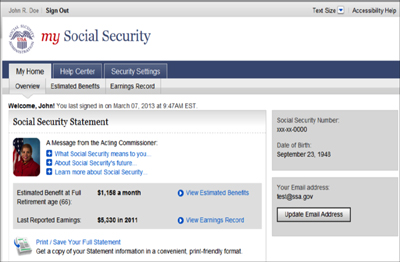 """""""My Social Security"""" Online Account Access — Center for Financial Planning, Inc."""