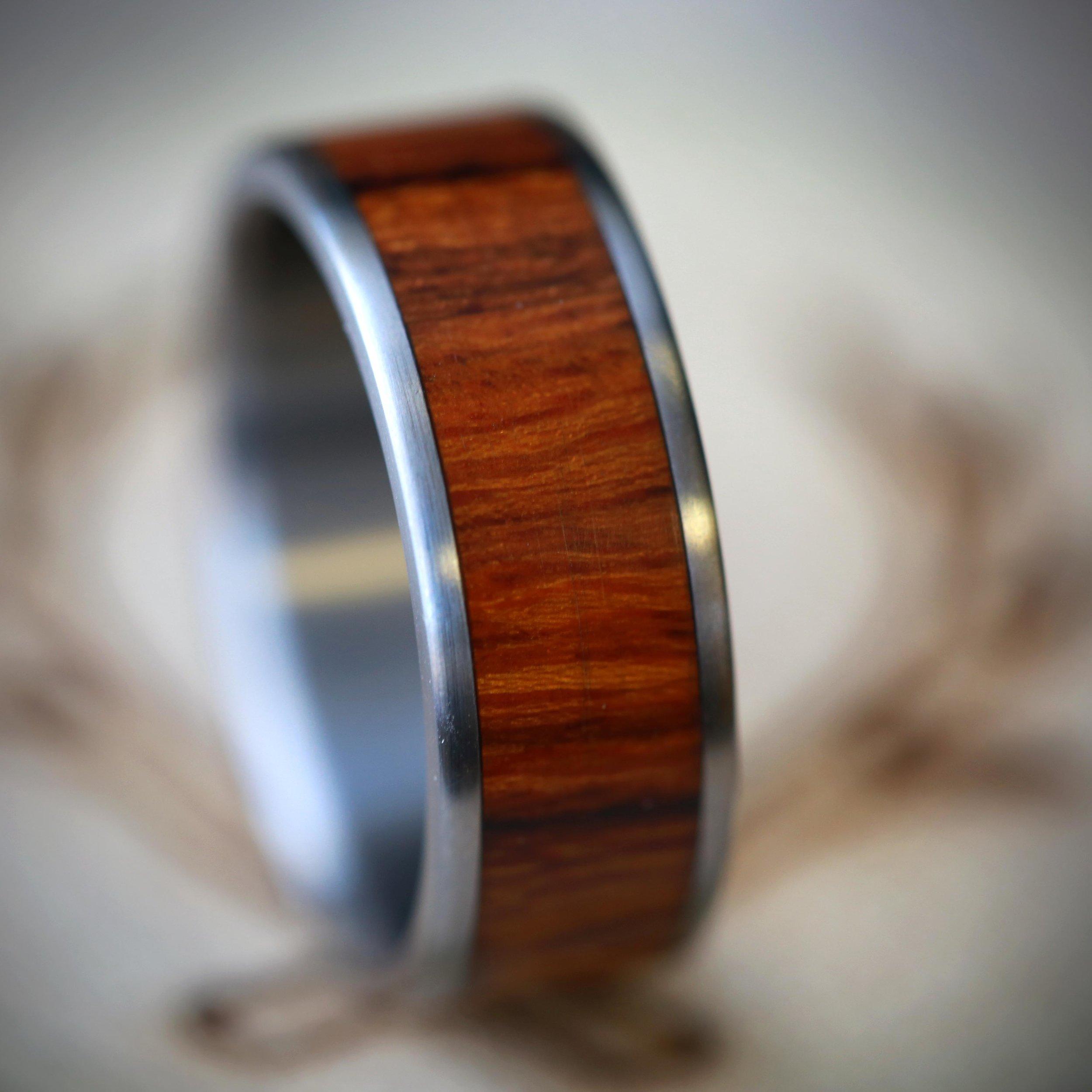wedding ring wood etsy wedding bands Wedding ring wood Men S Wood Wedding Band Available In Titanium Silver Or Gold Staghead
