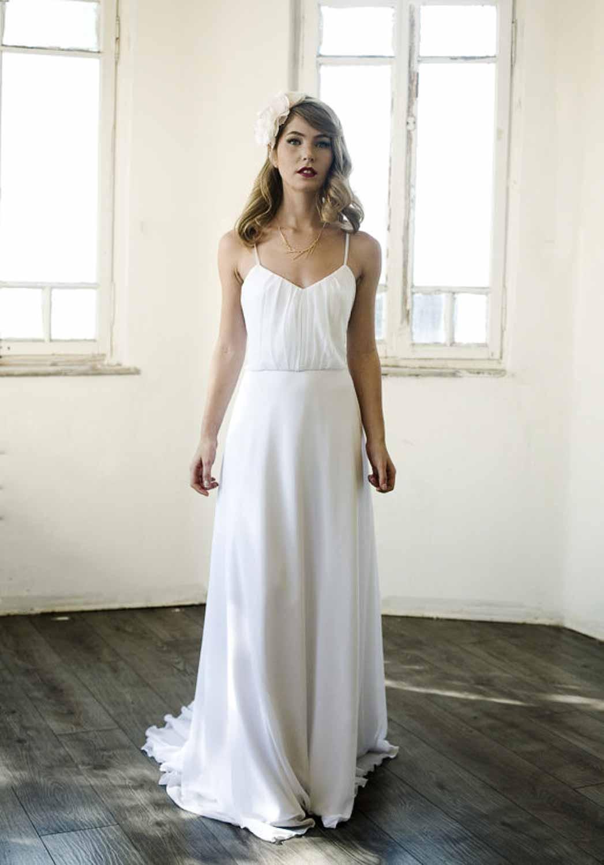 12 etsy boho wedding dresses with spaghetti straps simple bohemian wedding dresses Simple Dress Forward