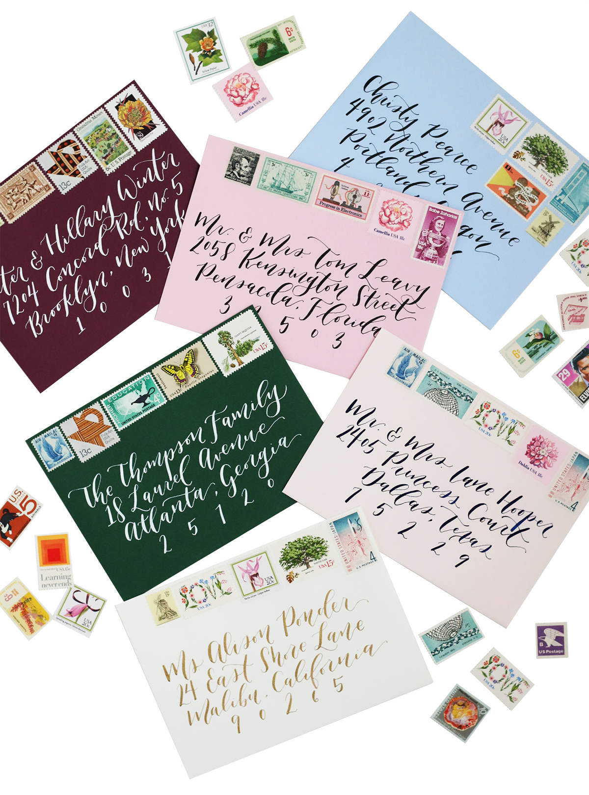 envelope and calligraphy guide for brides stamps for wedding invitations Vintage stamps are the perfect way to add a colorful and unique pop to your wedding