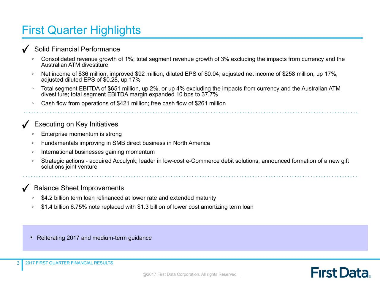 First Data Corporation 2017 Q1 - Results - Earnings Call Slides - First Data Corporation (NYSE ...