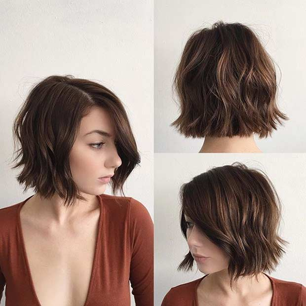 31 Short Bob Hairstyles to Inspire Your Next Look   Page 2 of 3     Choppy Blunt Bob Haircut