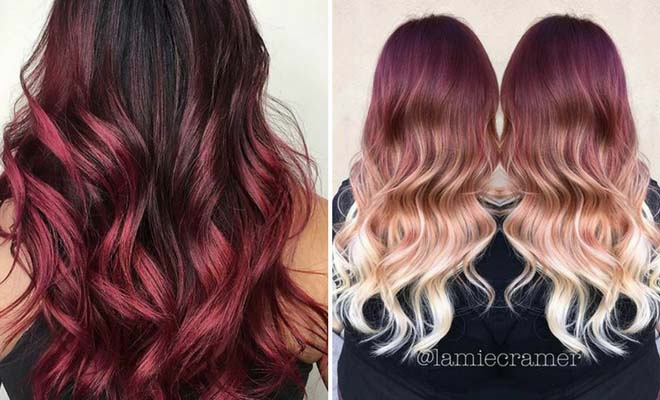 31 Best Red Ombre Hair Color Ideas   Page 3 of 3   StayGlam Instagram