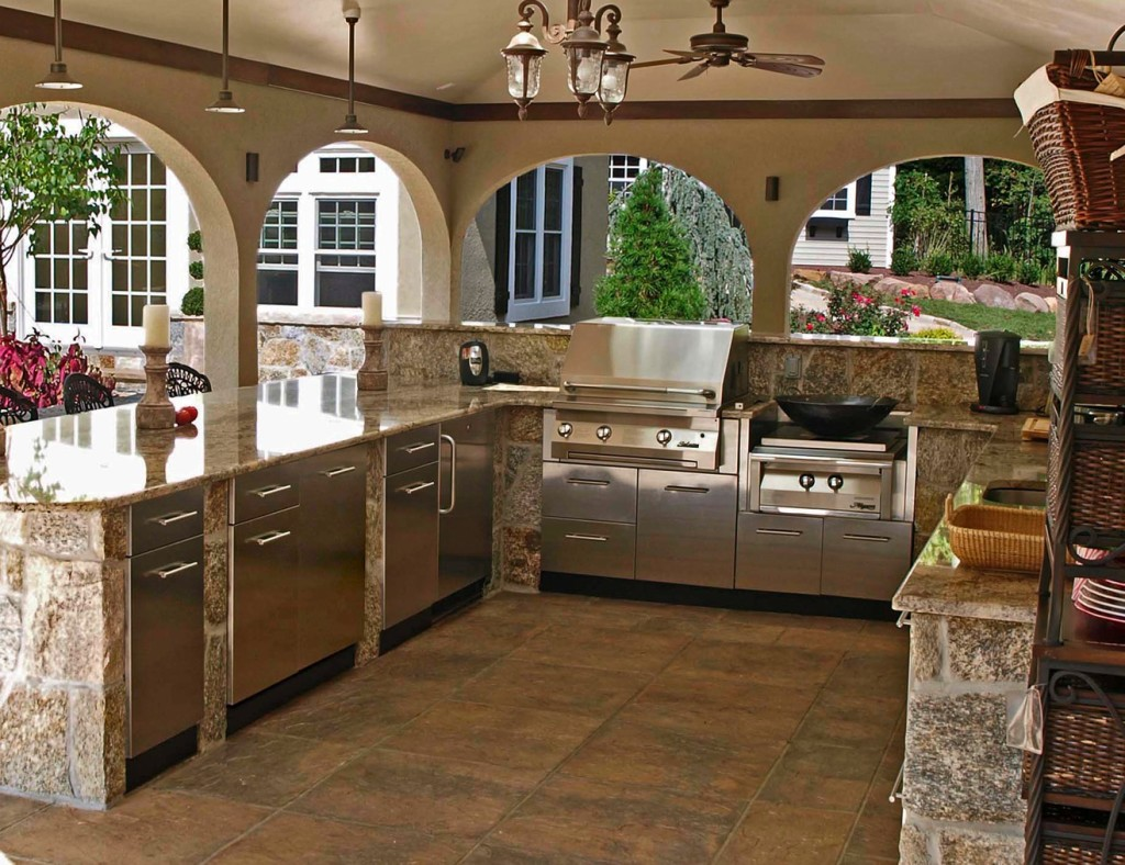kitchens stainless steel kitchen cabinets Stainless Steel Outdoor Kitchens