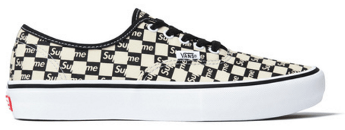 Vans Authentic Supreme Black Checker Logo   TBD Vans Authentic Supreme Black Checker Logo