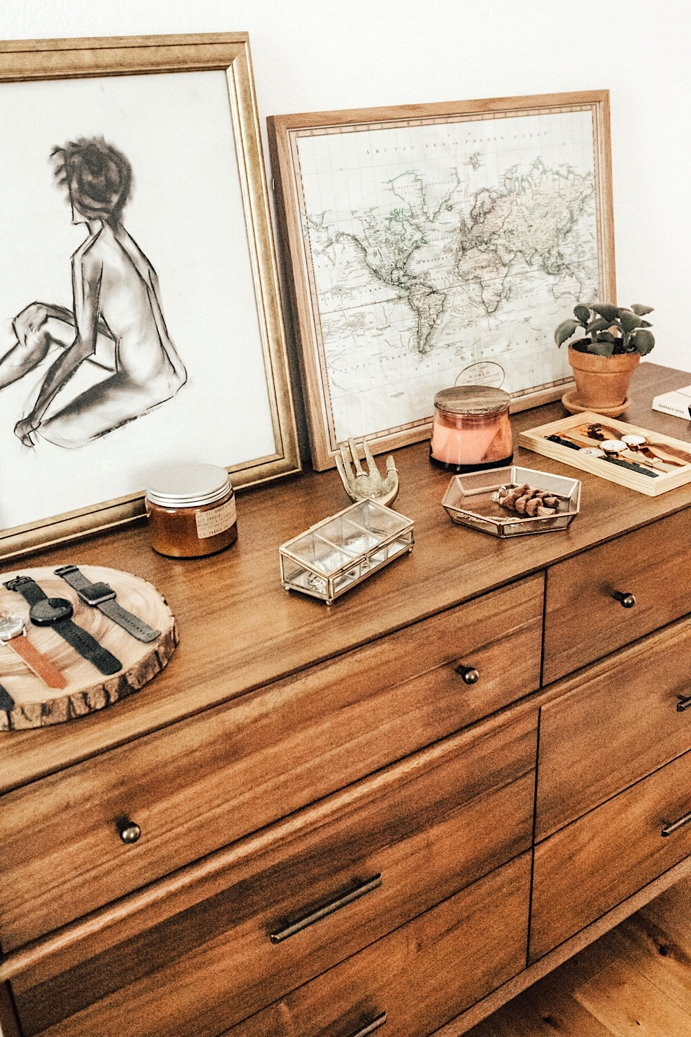 Bedroom Dresser Top Decor   LivvyLand   Austin Fashion and Style Blogger Bedroom Dresser Top Decor