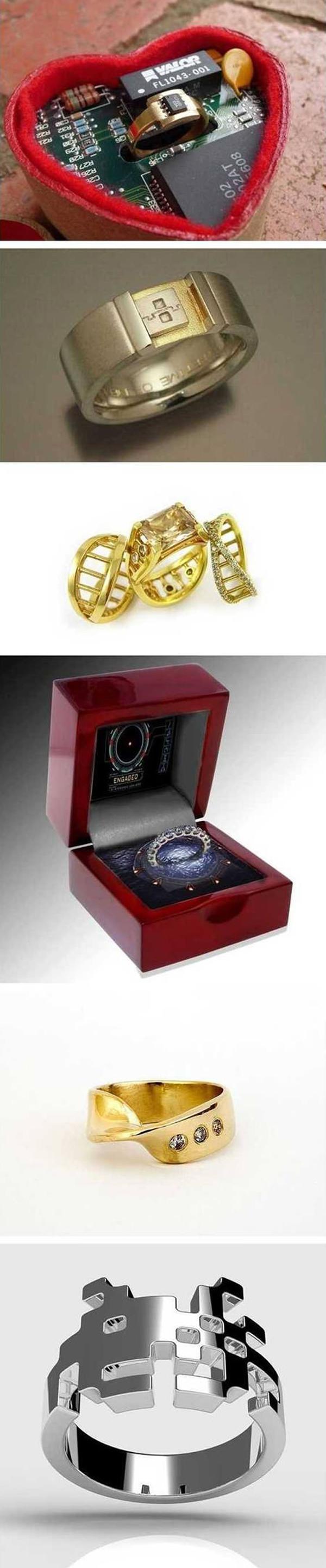 gamer wedding rings gamer wedding rings Geeky Wedding Rings Geek wedding rings
