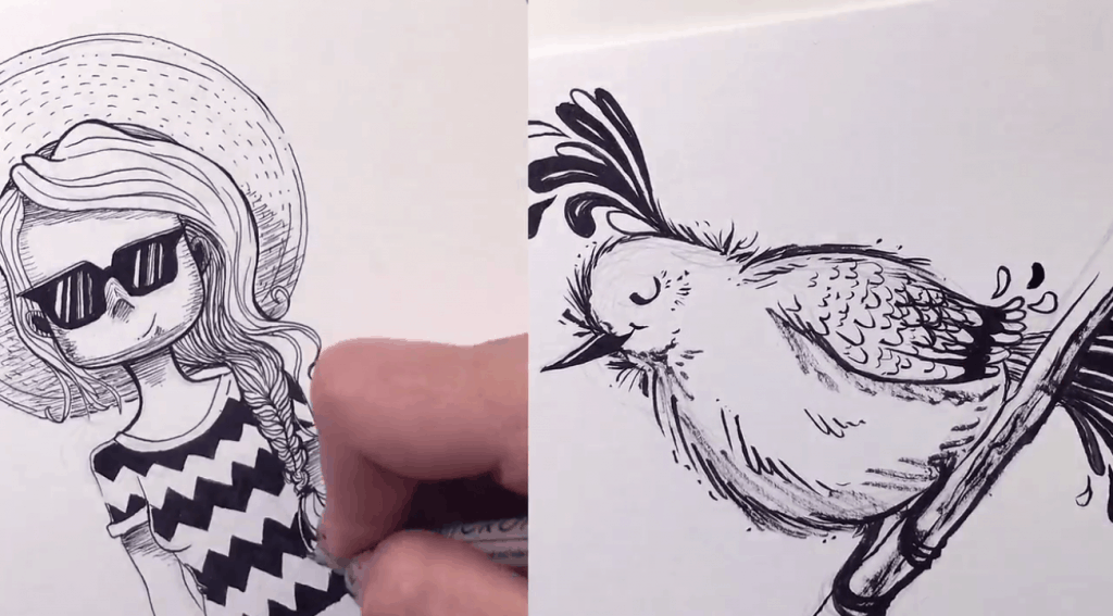 7 Drawing Classes on Skillshare You Must Take   FREE Trial Ink Drawing
