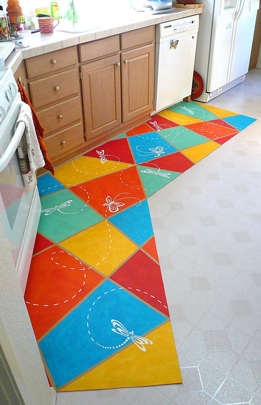 floor mat kitchen floor mat bright colorful kitchen mat