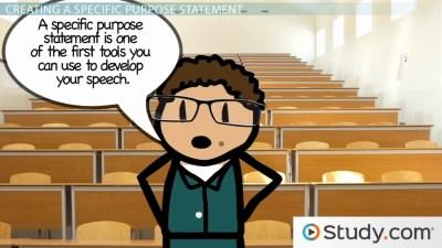 General Purpose vs. Specific Purpose of a Speech - Video & Lesson Transcript   Study.com