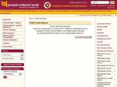 Punjab National Bank Loan Calculator - 2018-2019 StudyChaCha