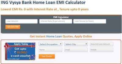 Ing Vysya Bank Home Loan Eligibility Calculator - 2018-2019 StudyChaCha