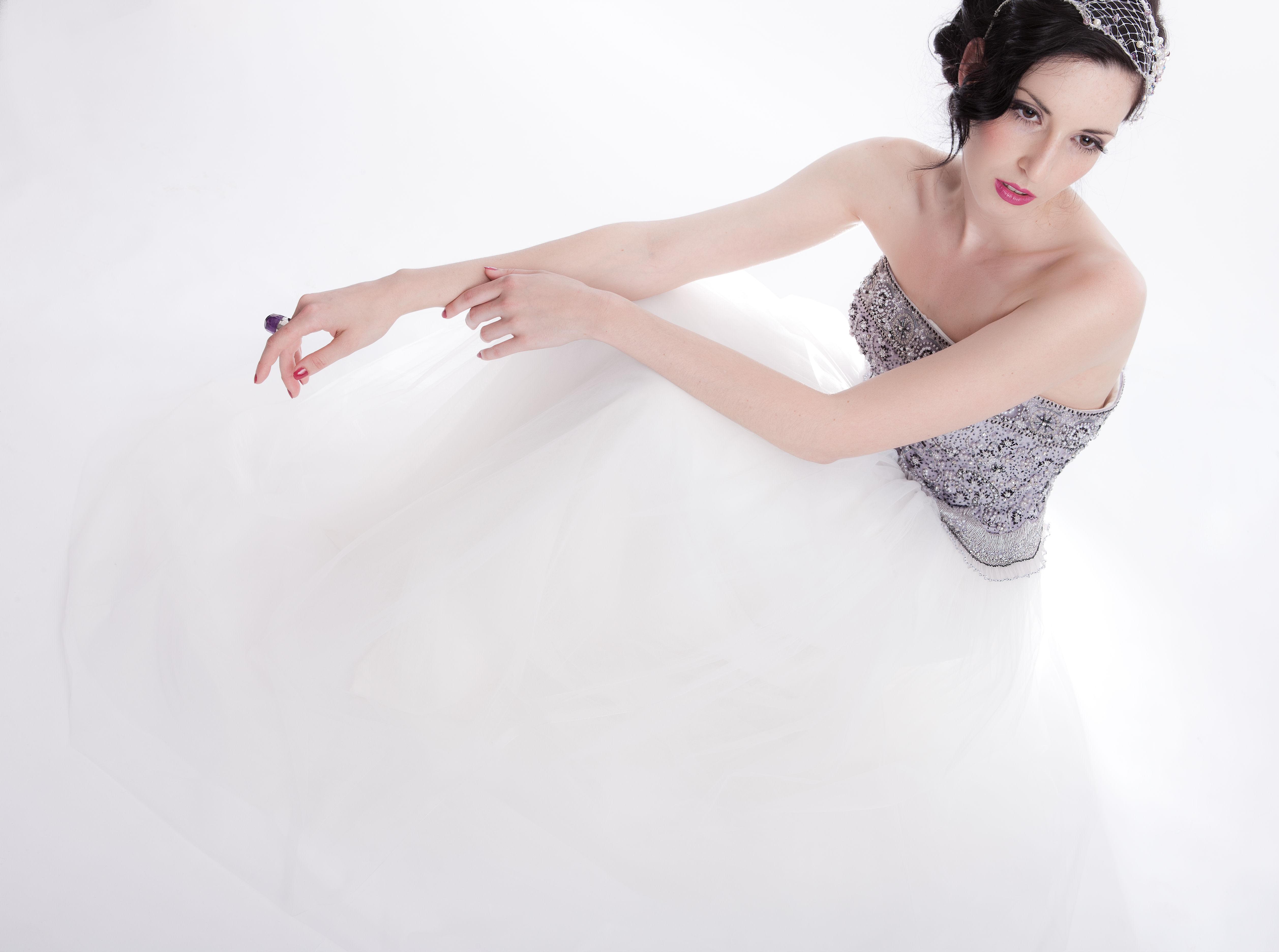 vintage wedding gowns lavender wedding dress Sarah Houston Lavender Bridal Gown