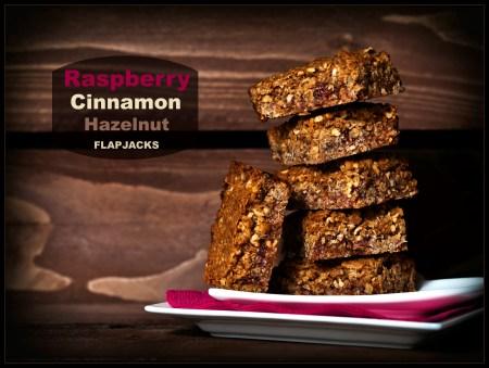 Raspberry Cinnamon Hazelnut Flapjacks