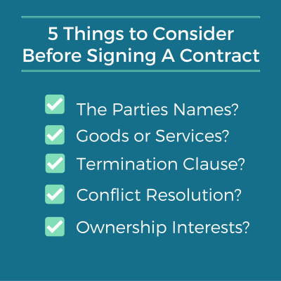 Contractual Considerations - Sustainable Law Group