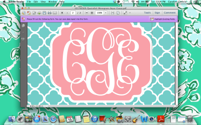 Create Monogrammed iPhone Wallpapers In 10 Easy Steps | Sweet Southern Prep