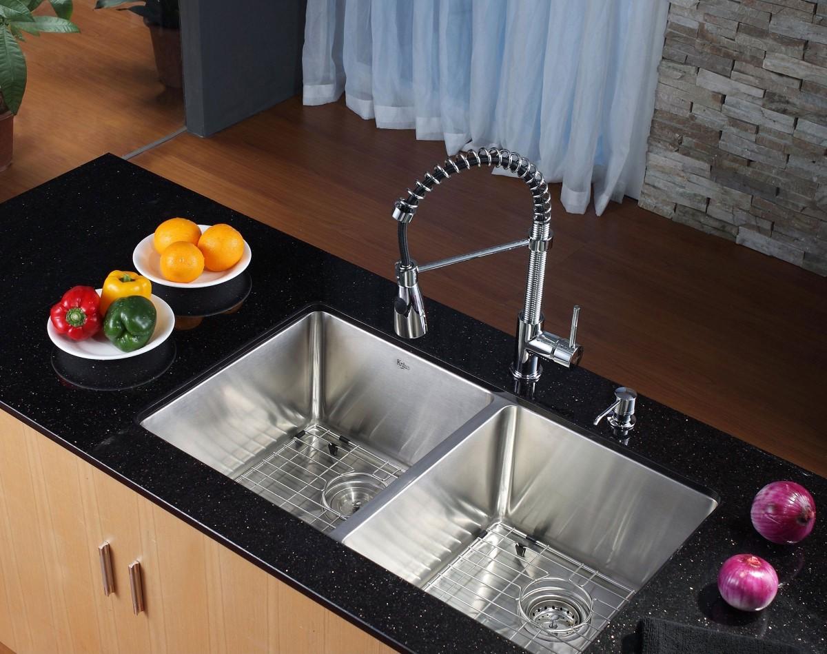 modern kitchen design with the undermount kitchen sink undermount kitchen sinks Cool Modern Undermount Sink Design Image 2 of 10