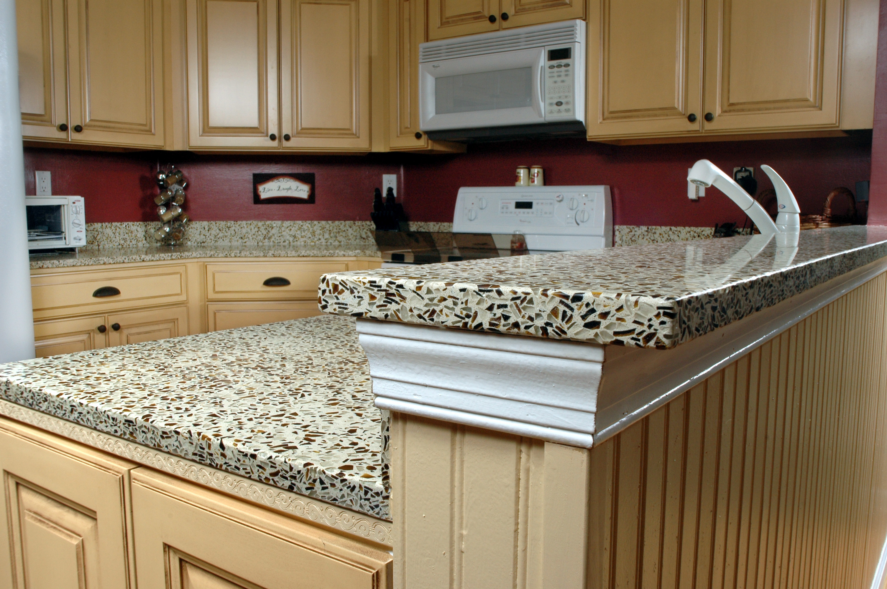painting kitchen countertops ideas cheap kitchen countertops Elegant Brown Painting Kitchen Countertops Ideas Image 5 of 10