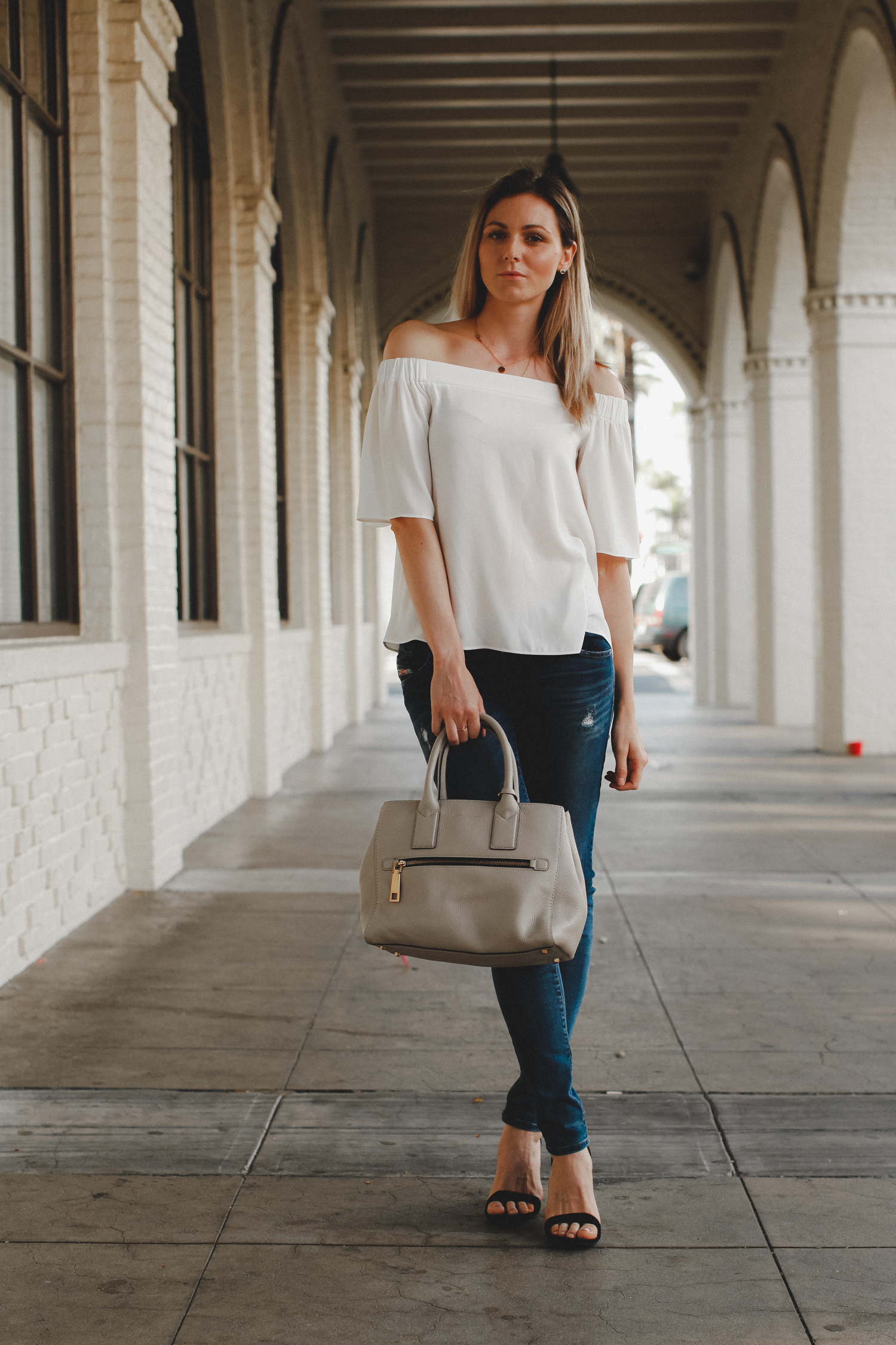 Easy way to dress up your jeans with a pair of heels