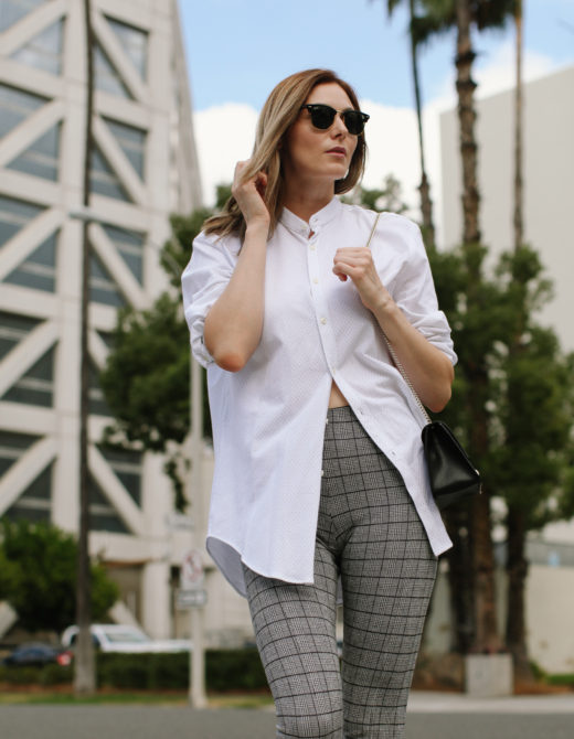how to style an oversized button down shirt