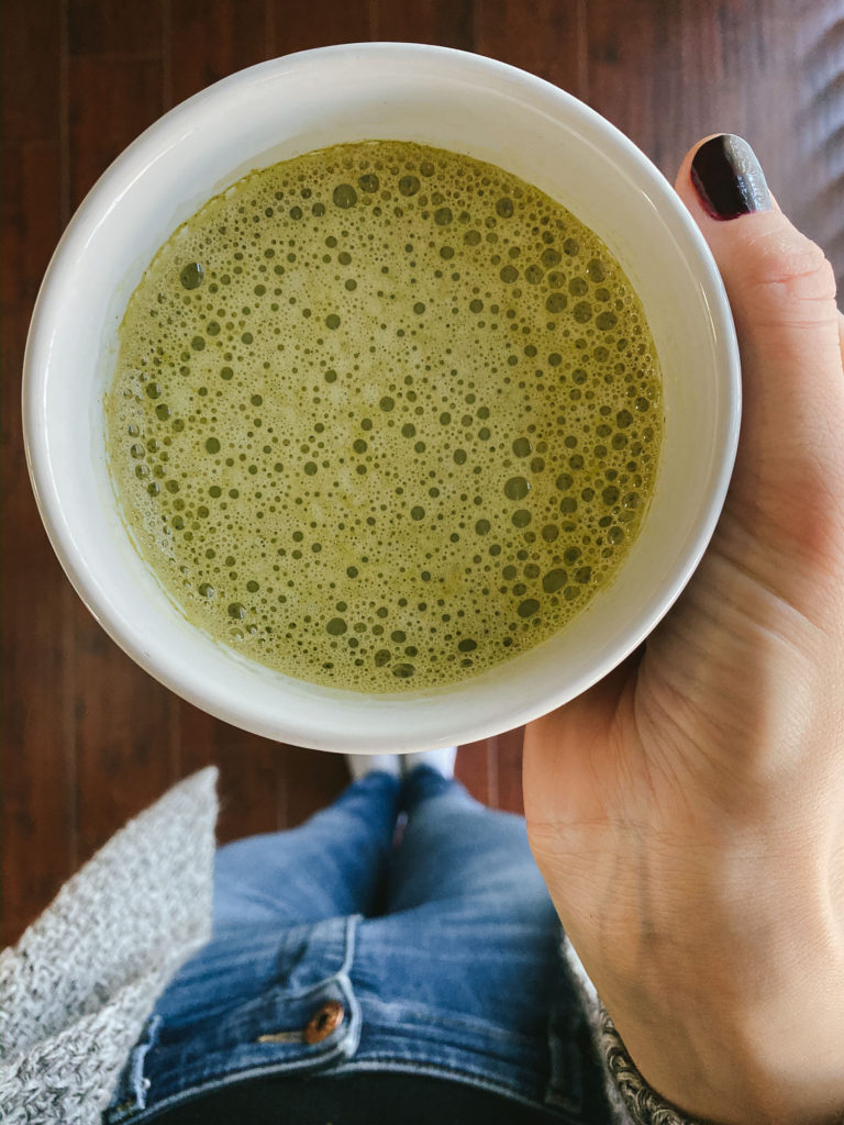 Delicious Green Tea Matcha Latte Recipe featured by top US lifestyle blog, Tea Cups and Tulips.