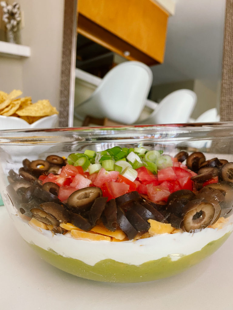 Kris Jenner's Layered Guacamole Recipe featured by top LA lifestyle blogger, Tea Cups & Tulips.