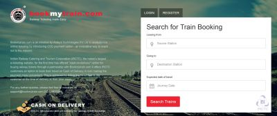 Bookmytrain - Bringing Cash On Delivery Option To Train Ticket Bookings ! - TechStory