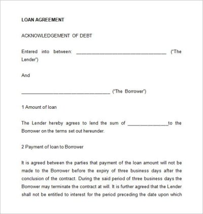 26+ Great Loan Agreement Template