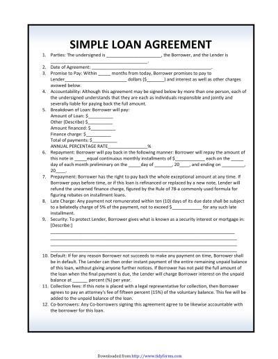 40+ Free Loan Agreement Templates [Word & PDF] ᐅ Template Lab