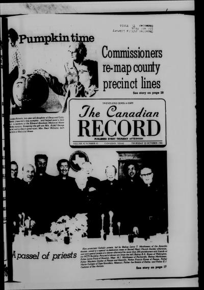 The Canadian Record (Canadian, Tex.), Vol. 92, No. 43, Ed. 1 Thursday, October 22, 1981 - The ...