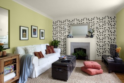 15 Best Collection of Wallpaper Living Room Wall Accents