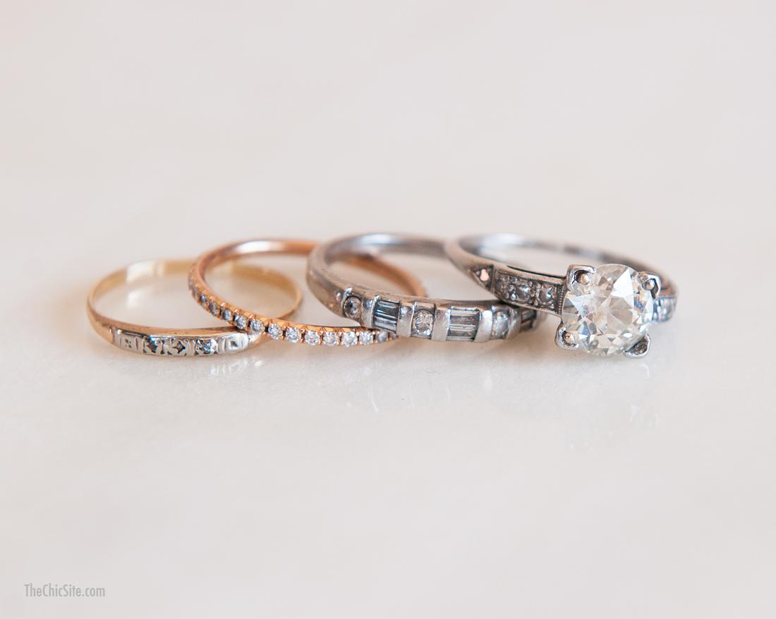 my rings stacked wedding rings set Rachel Hollis Stacked Rings