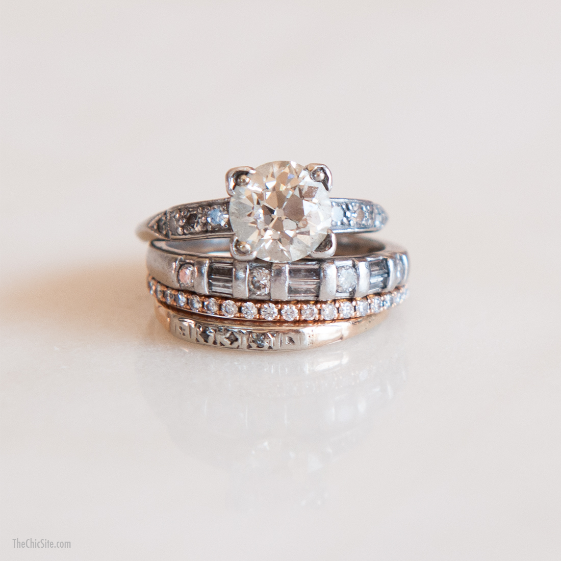 stackable wedding rings stacked wedding rings set Stackable wedding rings Rachel Hollis Stacked Wedding Rings