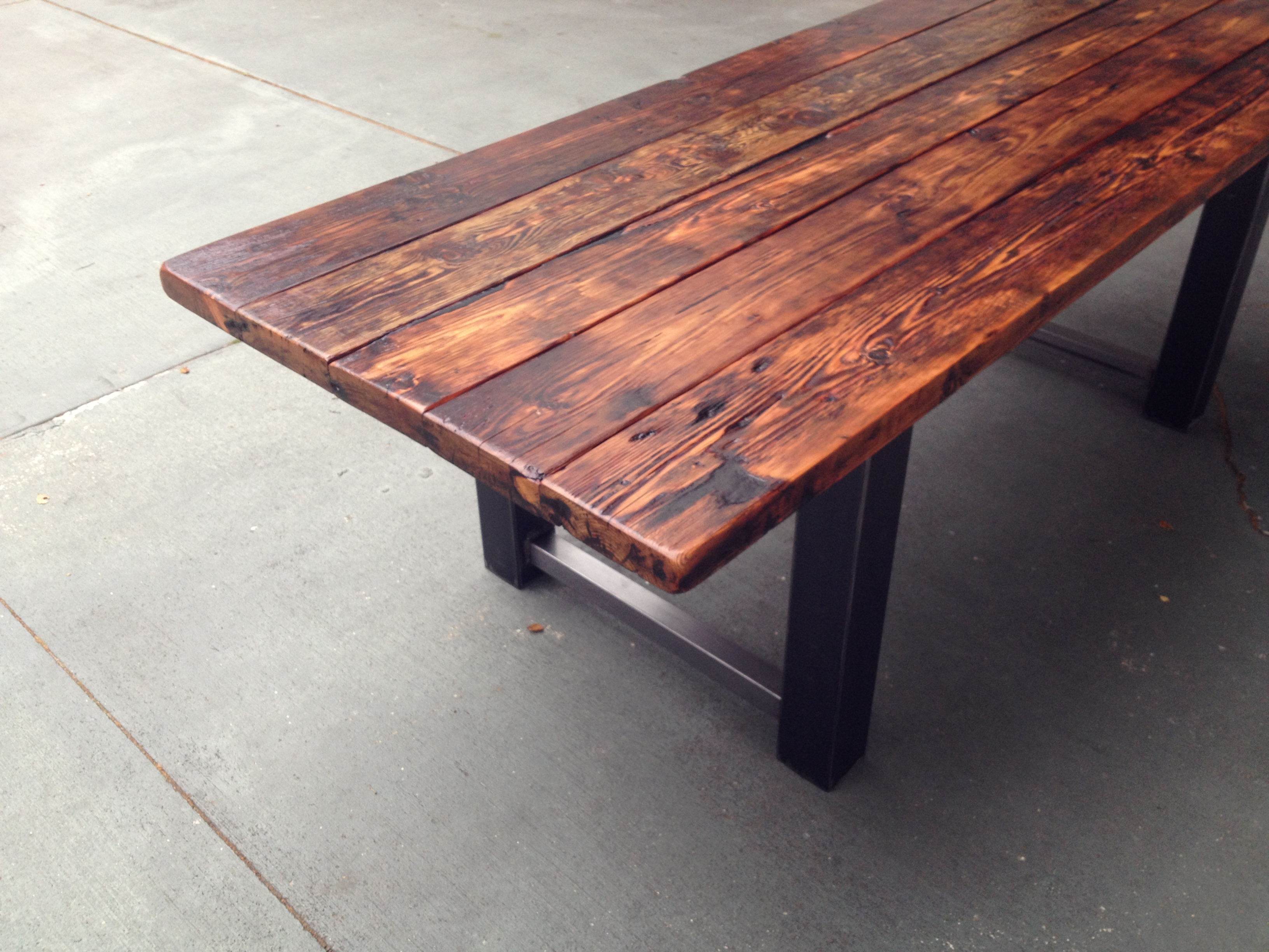 reclaimed wood and metal dining table wooden kitchen table 78 L Dining Table