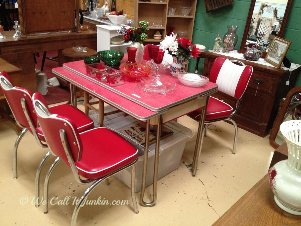 red retro kitchen table and chairs vintage kitchen tables Awesome Diy Projects And Party Time With Junkin Joe The Cottage Red Retro Kitchen Table