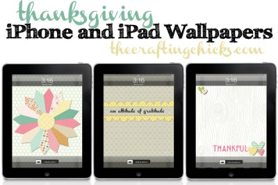 Thanksgiving iPhone and iPad Wallpapers - The Crafting Chicks