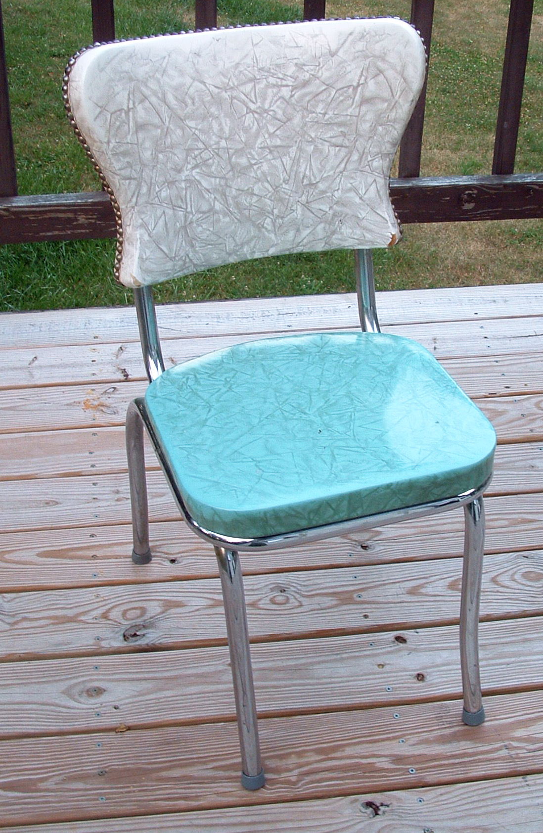 crafty challenge 9 kitchen chair re upholstery turquoise kitchen chairs Original chair before re upholstery
