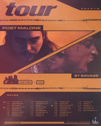 Post Malone and 21 Savage announce tour dates | The FADER