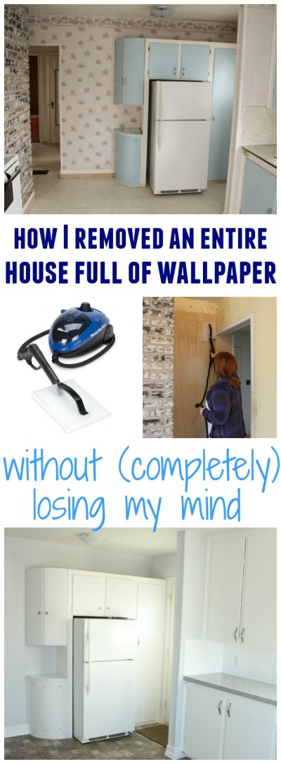 How to Remove Wallpaper Without {Completely} Losing Your Mind - The Happy Housie