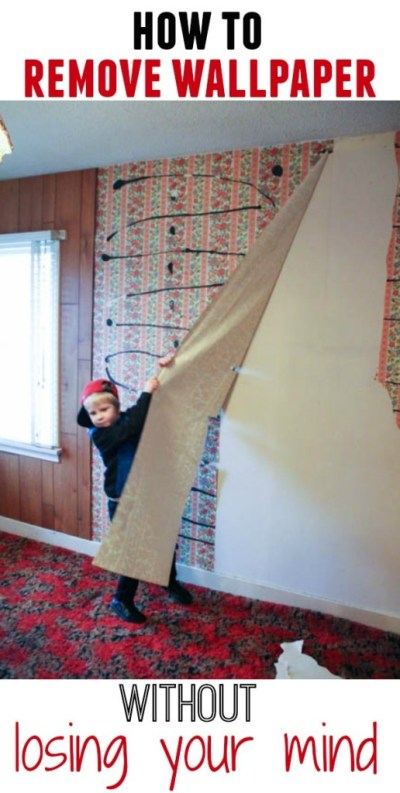 How to Remove Wallpaper Without {Completely} Losing Your Mind - The Happy Housie
